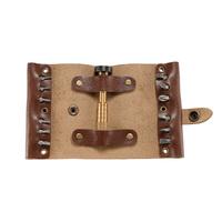 Набор бит CRKT 9911 Hex Bit Driver Leather Tool Roll